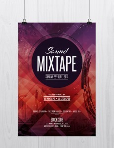 Sound Mixtape – Free PSD Flyer Template