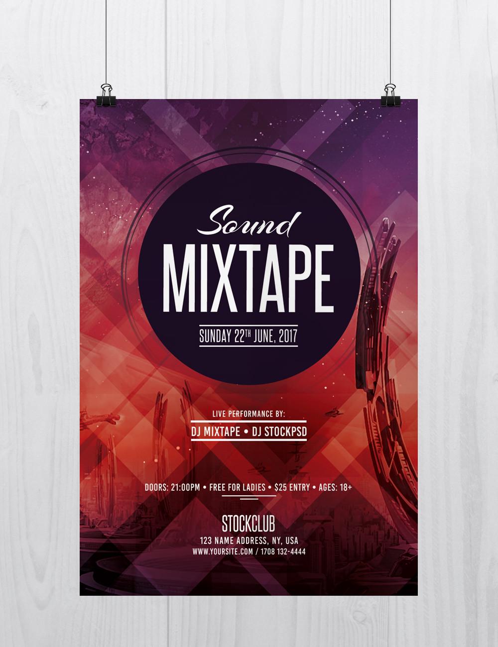 Sound Mixtape – Free PSD Flyer Template