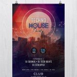 Tech House Party - Free PSD Flyer Template