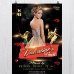 Valentine's Night - Free PSD Flyer Template