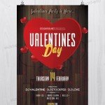 Valentine's Day Event - Download Free PSD Flyer Template