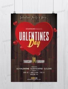 Valentine's Day Event – Download Free PSD Flyer Template