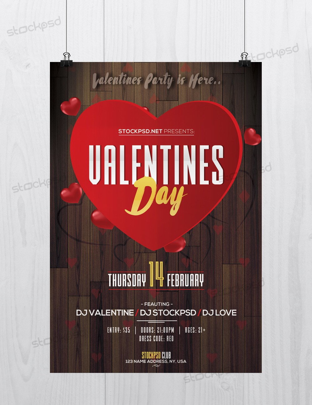 Valentine S Day Event Download Free Psd Flyer Template Stockpsd