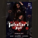 Valentine's Night - Download Free PSD Flyer Template