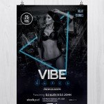 Vibe Dance - Free PSD Photoshop Flyer Template