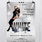 White Party - Free Elegant PSD Photoshop Flyer Template