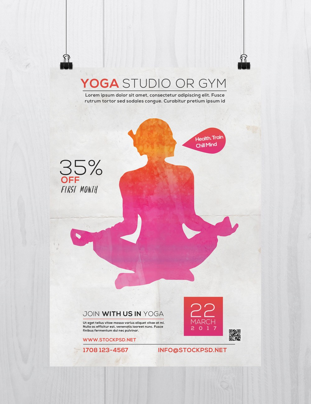 Yoga Studio Free Psd Flyer Template Stockpsd