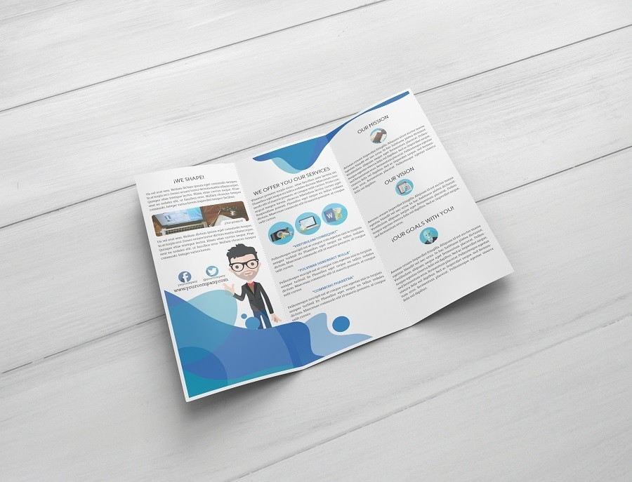 Download Free Trifold Brochure Psd Mockup Stockpsd
