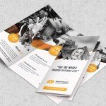 Photography PSD Trifold Brochures