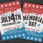 July 4th & Memorial Day - PSD Flyer Template