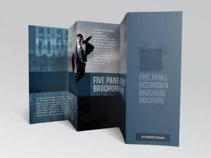 Tri-Fold – 5 Free Brochure Mockups