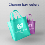 Light Shopping Bags - Download Free PSD Mockup