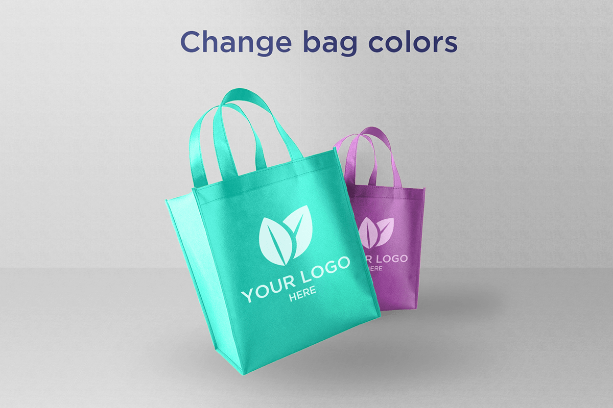 Light Shopping Bags – Download Free PSD Mockup