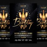 BIRTHDAY VIP - PSD Flyer Template