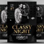 Classy Nights - PSD Photoshop Flyer Template