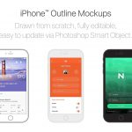 iPhone Outline Mockups – PSD Template