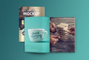 Set of Magazine – Download Free PSD Mockups