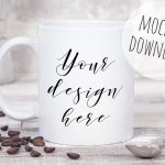 Coffee Mug PSD Mockup Photograph