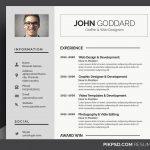 Resume / CV - 3 PSD Templates