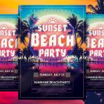 Sunset Beach Party - PSD Flyer Template