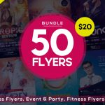 BUNDLE | 50 PSD FLYERS TEMPLATES