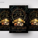 New Year Party – Luxury Black and Gold PSD Flyer