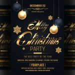 Classy Christmas 2018 - Black and Gold PSD Flyer Template