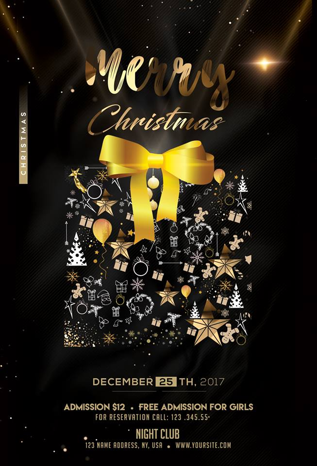 Merry Christmas Poster 2018.Merry Christmas 2018 Download Psd Flyer Template Free