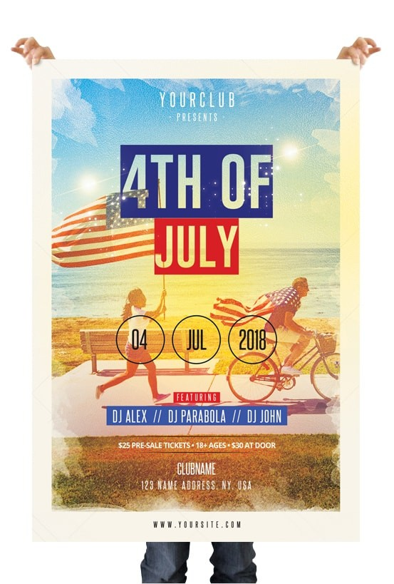 4th of july free psd flyer template stockpsd