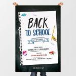 Back 2 School – Free PSD Flyer