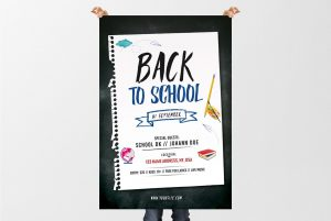 Back 2 School – Free PSD Flyer