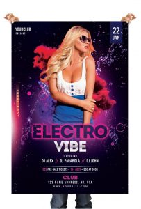 Electro Vibe – Free Photoshop Flyer Template