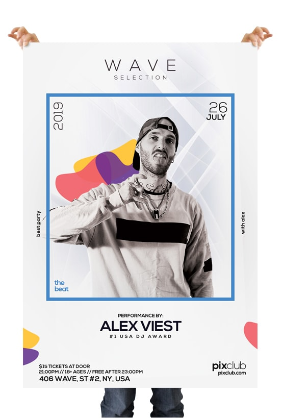 White Party – Free Minimal PSD Flyer Template