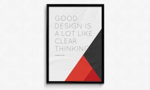 Poster Frame – Free PSD Mockup