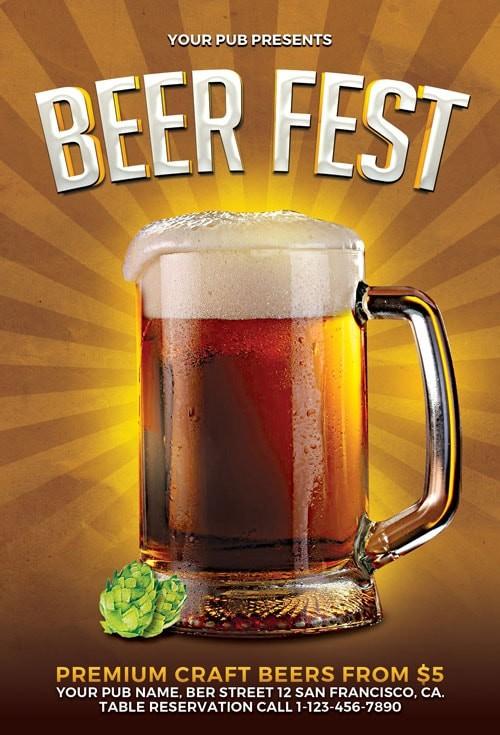 Beer Fest – Free PSD Flyer