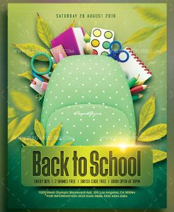 Back to School – Download Free PSD Flyer