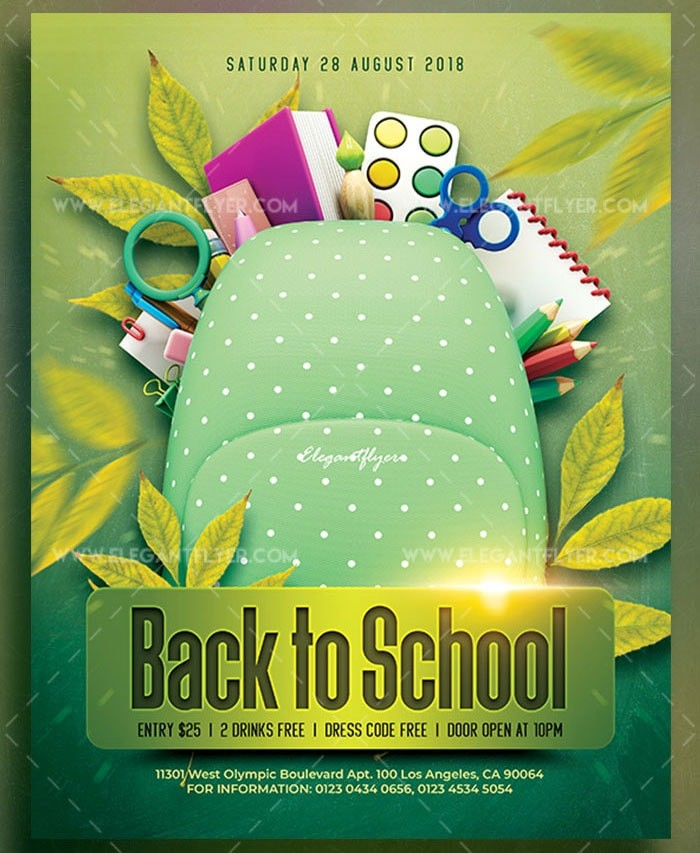 Back to School – Download Free PSD Flyer - Free PSD Flyer