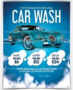 Car Wash Download Free PSD Flyer