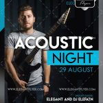 Acoustic Night – Free PSD Flyer