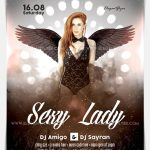 Sexy Lady – Download Free PSD Flyer