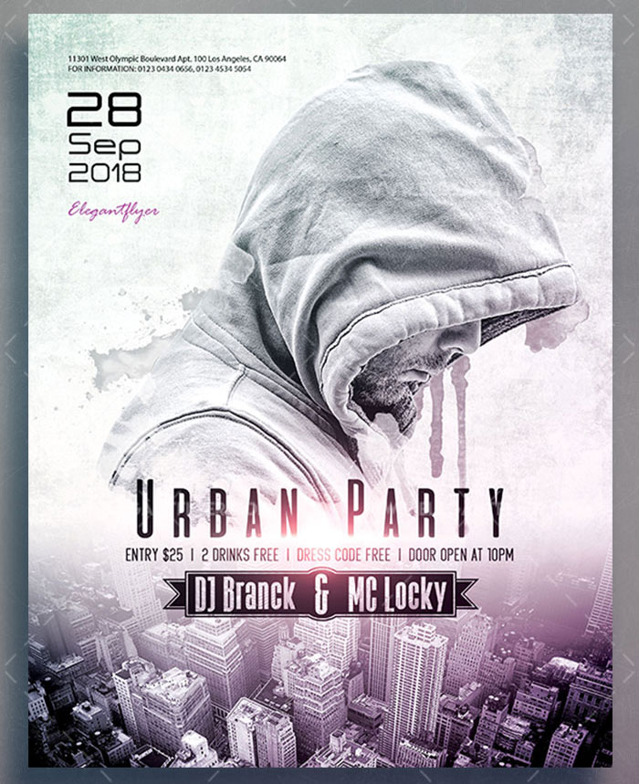 Urban Party Free Psd Flyer Stockpsd
