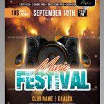 Music Festival – Free PSD Flyer