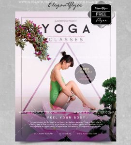 Yoga Classes – Free PSD Flyer
