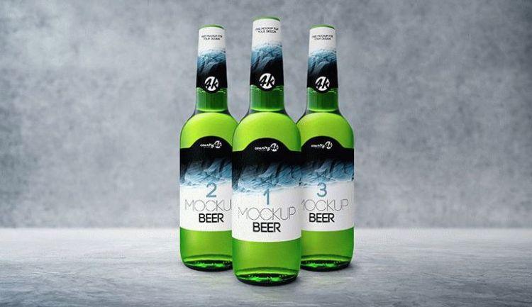 Bottle Beer - Free PSD Mockup