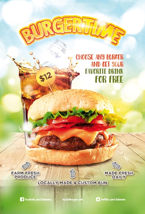 Burger Time – Download Free Flyer and Poster