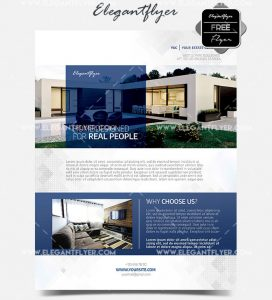 Real Estate Template – Free PSD Flyer