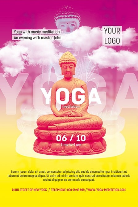 Meditation Yoga Download Free Psd Flyer Stockpsd