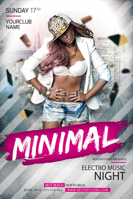 Minimal Electro – Download Free PSD Flyer