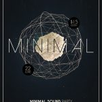 Minimal Party - Free PSD Flyer and Poster Template