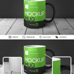 Mug in Table – Free PSD Mockup
